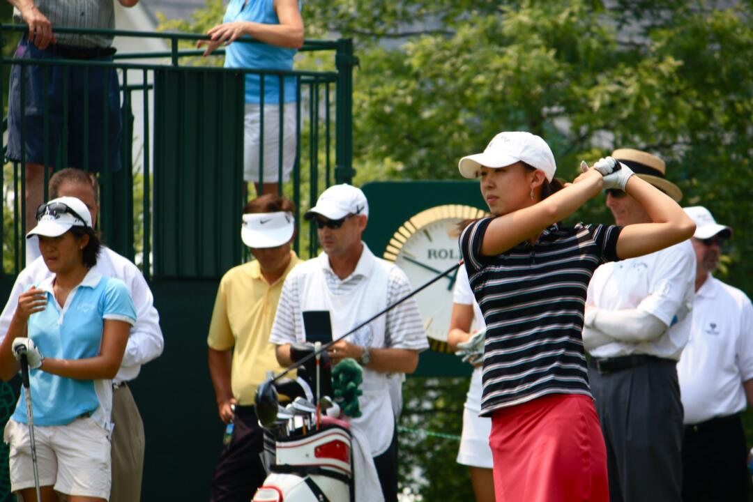 Notre Dame freshman golfer Nicole Zhang competed in the 2010 U.S. Women's Open at Oakmont Country Club in July.