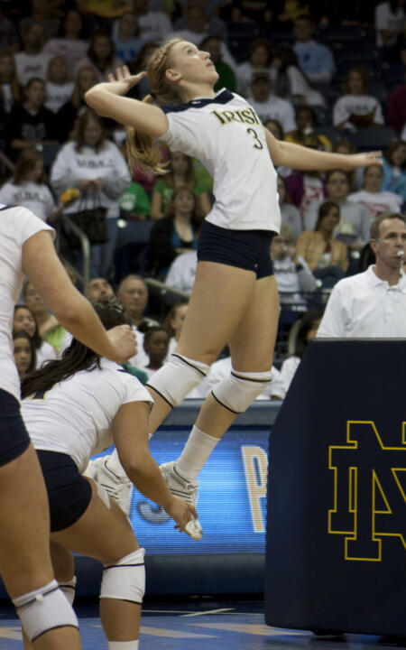 Seven digs and nine kills came from Freshman Andrea McHugh Sunday afternoon.