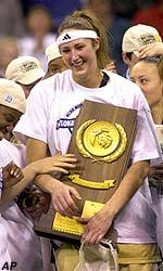 2001 consensus national player of the year Ruth Riley and her 2000-01 Fighting Irish teammates will be back on campus Nov. 12-14 to celebrate the 10th anniversary of Notre Dame's 2001 NCAA national championship.