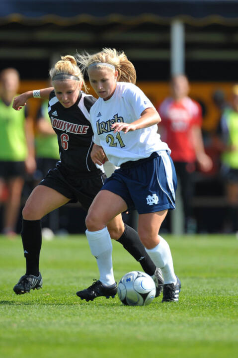 Erica Iantorno and the other Notre Dame seniors will be honored for their achievements during a ceremony prior to Sunday's nationally-televised match against Rutgers at Alumni Stadium (1 p.m. ET, ESPNU).
