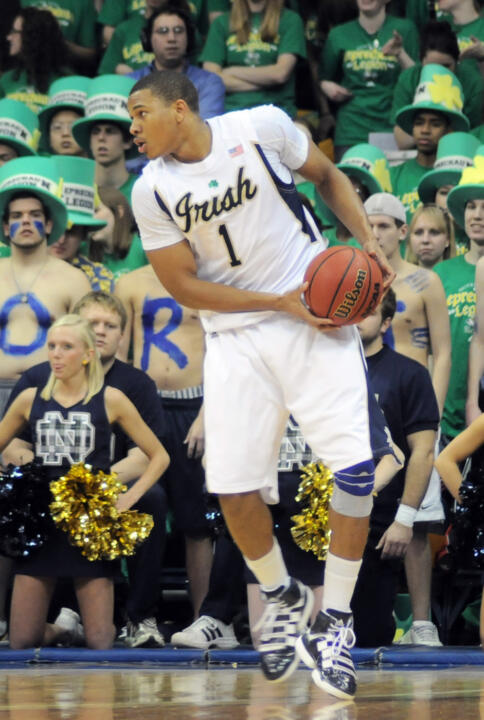 Tyrone Nash finished Notre Dame's first exhibition contest with eight points, nine boards and five assists.