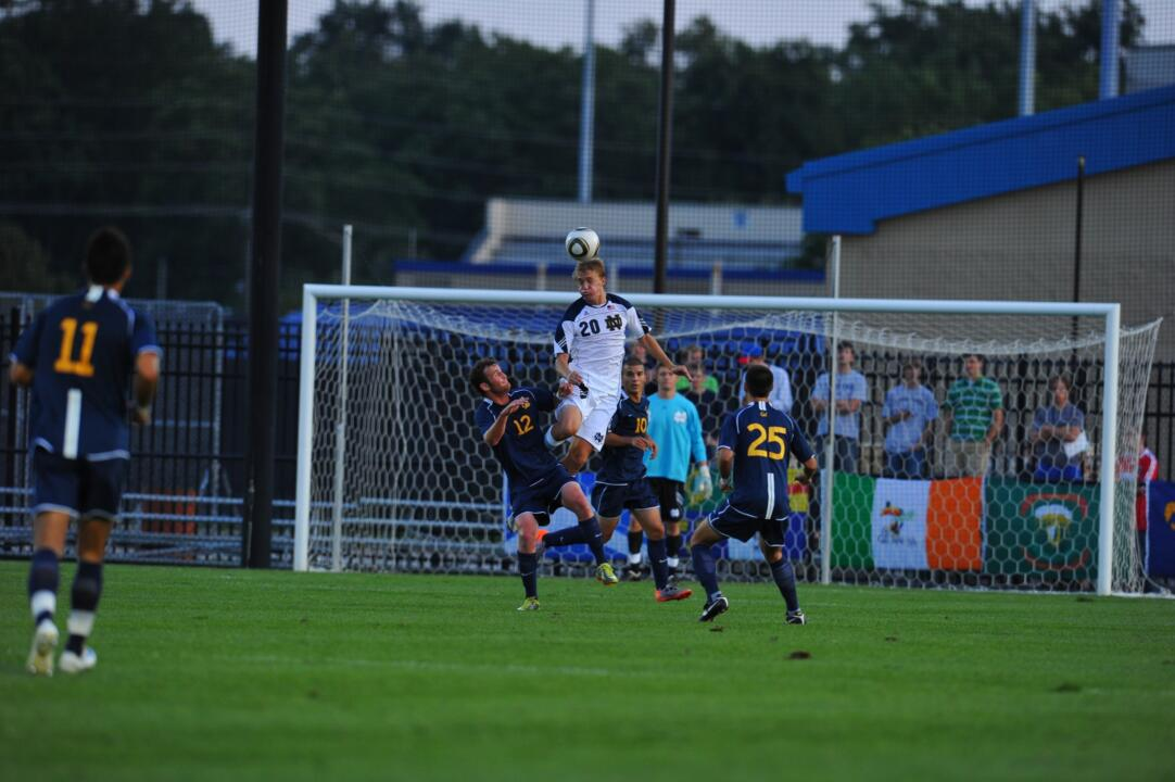 Sophomore central defender Grant Van De Casteele scored the game winner for the Fighting Irish.