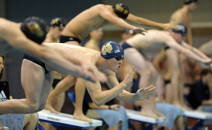 Notre Dame's record went to 2-2 following a loss to Purdue Saturday at the Rolfs Aquatic Center.
