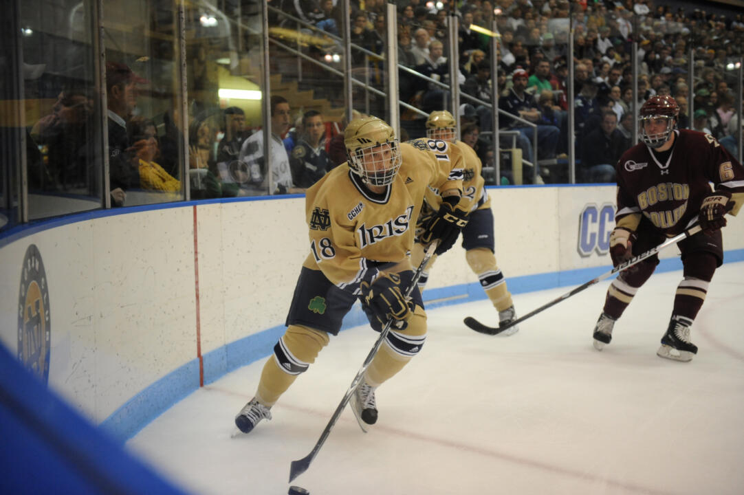 Freshman center T.J. Tynan had a goal and two assists versus Michigan to earn CCHA rookie of the week honors.