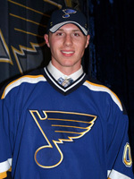 First-round pick Ian Cole made his NHL debut with St. Louis on Saturday, Nov. 6 at Boston.
