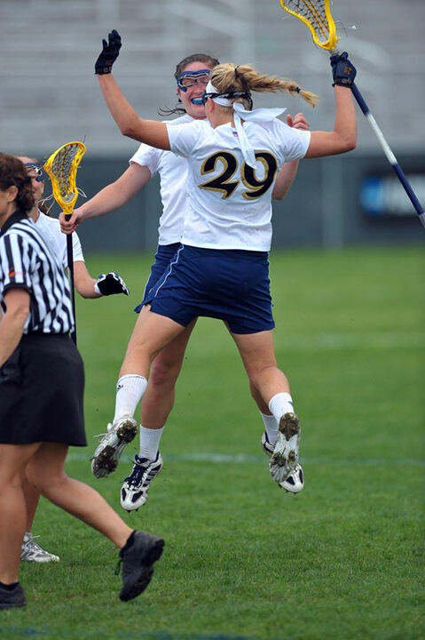 Seniors Jackie Doherty and Shaylyn Blaney are looking forward to the start of the 2011 Notre Dame women's lacrosse season.