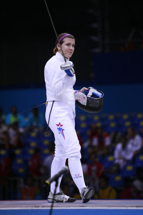 Courtney Hurley earned the silver medal in women's epee at the North American Cup