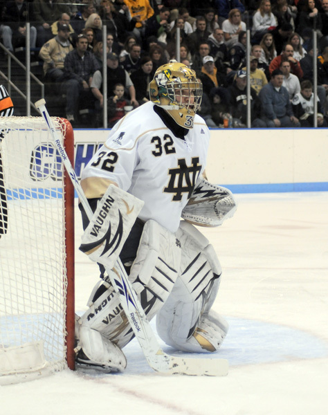 Sophomore goaltender Mike Johnson stopped 29-of-30 shots in Notre Dame's 4-1 win at Ohio State.