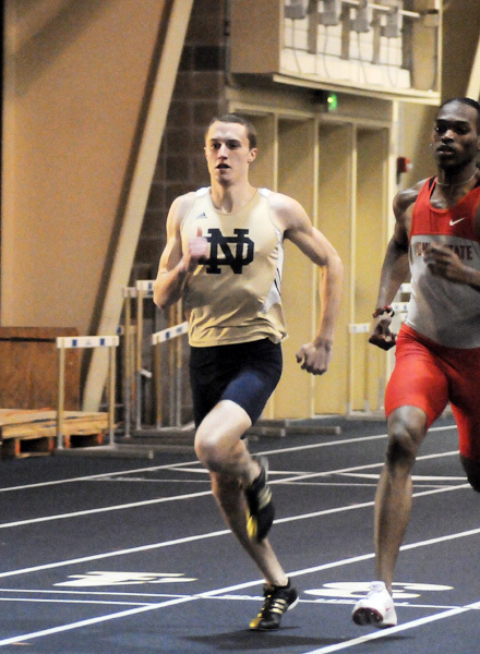 Jack Howard was the first-place finisher in the 600 meters (1:20.46).