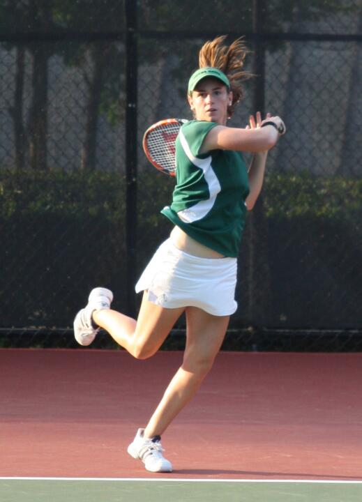 Shannon Mathews clinched the Irish win with a 6-3, 6-2 victory at No. 2 singles.