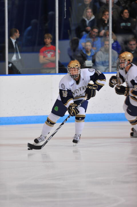 T.J. Tynan scored Notre Dame's only goal in the 6-1 loss at Ohio State.