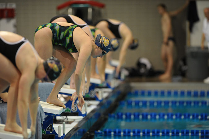 Saturday's meet at Northwestern with the Wildcats and Michigan will be scored as a double-dual meet.