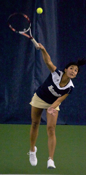 Kristen Rafael's 6-1, 7-5 victory over Blair Seideman clinched the win for the Irish over Yale and advanced the team into the championship match against Arkansas on Sunday.
