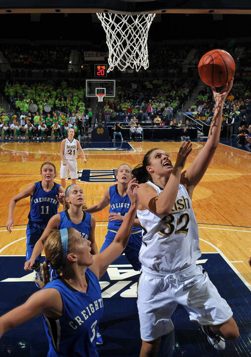 Senior forward/co-captain Becca Bruszewski scored a career-high 25 points in Notre Dame's 90-66 win over DePaul last year at Purcell Pavilion.