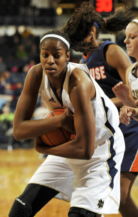 Senior Devereaux Peters is averaging 11.5 points and 7.2 rebounds per game for the Irish in 2010-11.