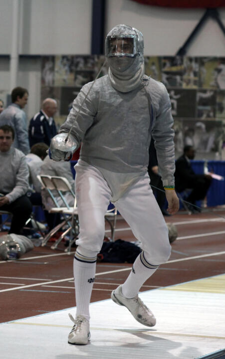 Avery Zuck was one of four Irish fencers to reach 10 wins on the first day at the NCAA Championships, finishing 11-3 with a +31 indicator.