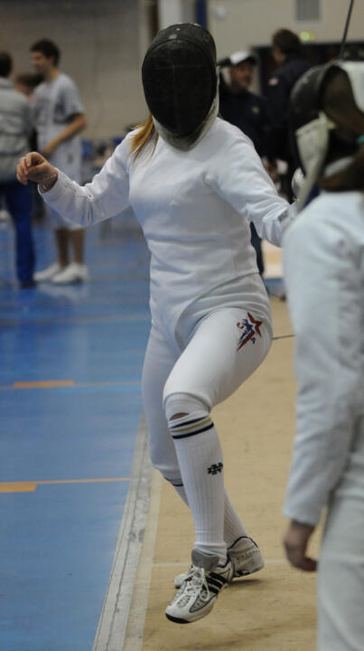 Courtney Hurley won epee gold at the Midwest Fencing Conference Championships, marking one of two Irish fencers to win gold.
