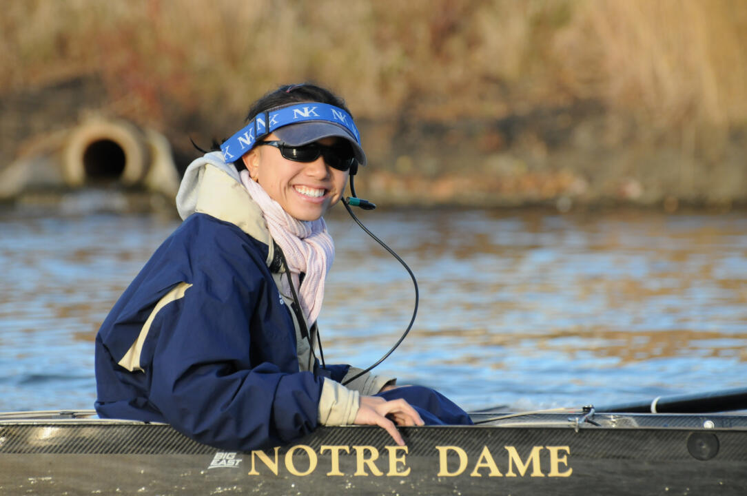 Rachael Louie and the Irish are set to row against Indiana, Purdue and Eastern Michigan on Sunday in a four-team regatta.