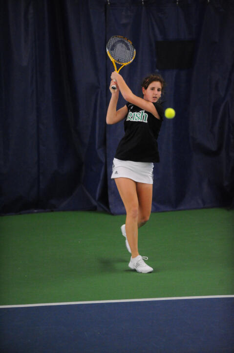 Freshman Jennifer Kellner took care of Sasha Krupina at No. 4 singles, 4-6, 7-6, 1-0 (10-8), to improve her dual record to 13-3.