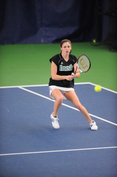 Shannon Mathews, along with teammate Jennifer Kellner, earned a hard-fought 8-5 win at No. 2 doubles for the Irish.