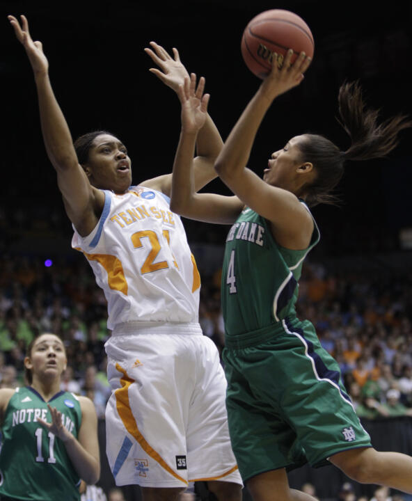 Sophomore guard Skylar Diggins was named an AP third-team All-American on Tuesday, becoming the fourth Fighting Irish player to earn that status, and first since Jacqueline Batteast in 2005.