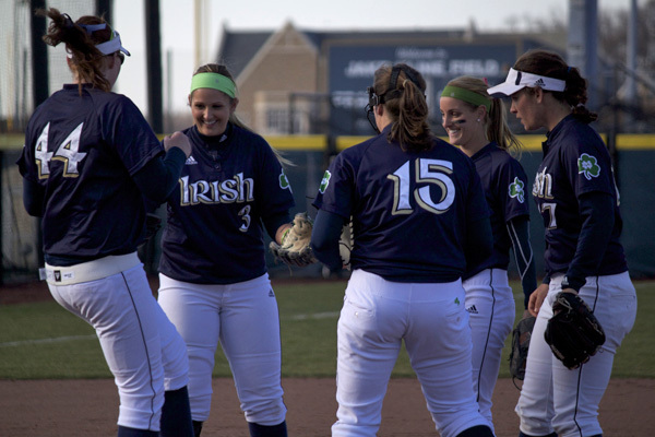 The Irish and Bulldogs meet for a doubleheader today at 4:00 p.m. (ET).