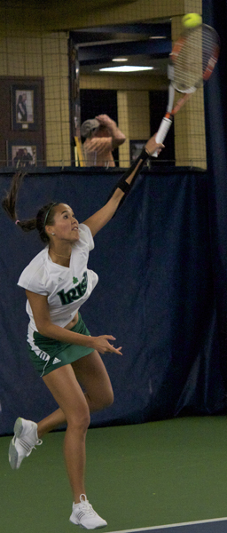 Kristy Frilling clinched the win for the Irish over Long Beach State with her 14th dual season win of the year.
