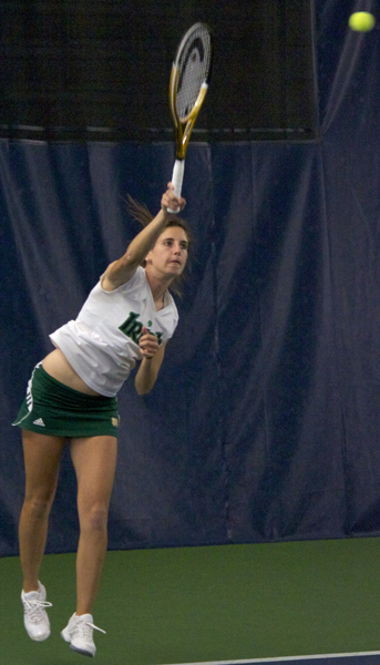 Jennifer Kellner's 6-3, 6-3 win over Christi Liles clinched the victory for Notre Dame over Texas A&M on Saturday.