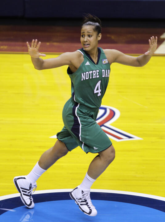 Sophomore guard Skylar Diggins scored a season-high 28 points in Sunday's national semifinal win over top-ranked Connecticut.