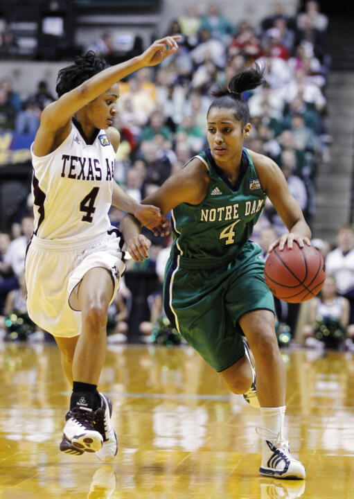 Sophomore guard Skylar Diggins was named the second recipient of the Woody Miller Player of the Year award (voted on by the media), as part of Tuesday's season-ending Notre Dame women's basketball banquet.