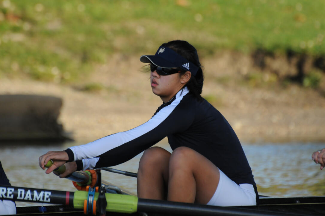 Ching-Ting Hwang and the varsity four boat earned the highest finish of the day for the Irish at the Oak Ridge Regionals, placing second in the grand finals.