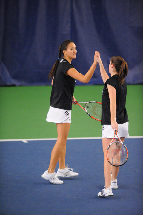 Kristy Frilling and Shannon Mathews saw their season officially come to a close after suffering a 6-4, 6-2 to Stanford's Hilary Barte and Mallory Burdette.