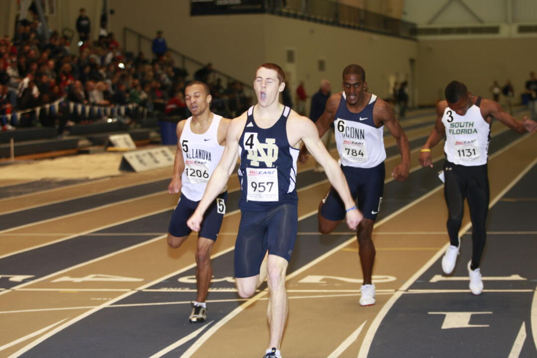 Patrick Feeney finished in 16th place (47.04) in the 400-meter dash.