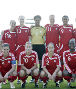 Candace Chapman (#9, pictured at back right) is one of five former Fighting Irish women's soccer players who will be taking part in the 2011 FIFA Women's World Cup, which kicks off Sunday in Germany.