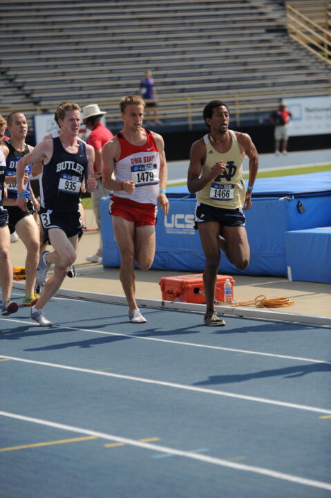 Johnathan Shawel finished in 13th place in 3:53.50 in the 1,500-meter run.