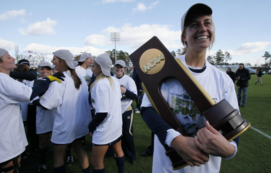 Lauren Fowlkes helped lead the Irish to their third title in program history in 2010.