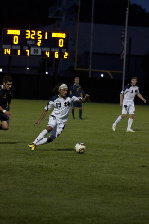 Adam Mena scored the game winner in last season's 2-1 victory at Indiana.