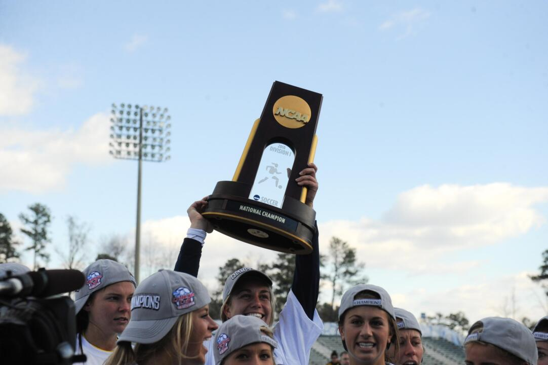 Fans will have the chance to get their photo taken with the 2010 women's soccer NCAA national championship trophy at the annual Notre Dame Soccer