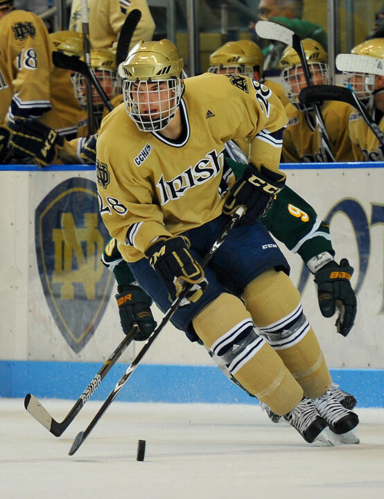 Sophomore defenseman Stephen Johns is one of four Notre Dame players that will be attending the 2011 U.S. Junior National Evalaution Camp in Lake Placid, N.Y., starting on August 6.