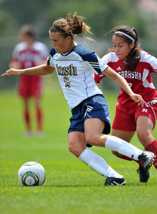 Sophomore midfielder Mandy Laddish had a goal in Notre Dame's exhibition match against Virginia last season.