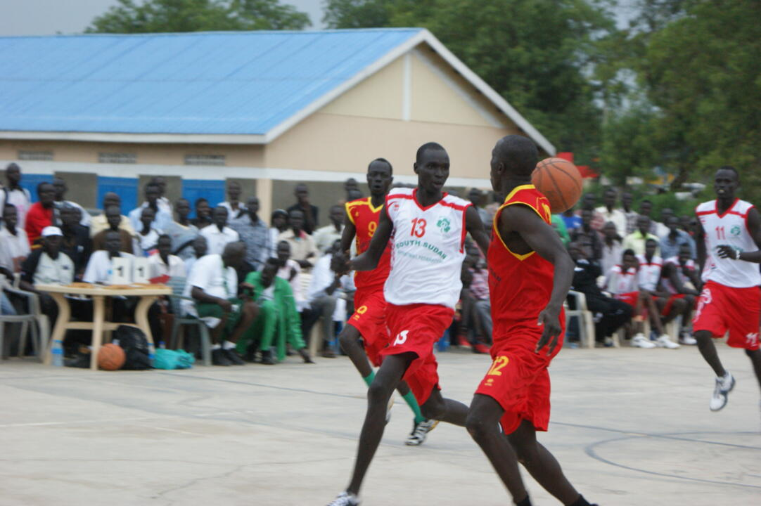 The Sudanese People's Liberation Army defeated Juba University, 55-40, in the title game of the Playing for Peace Championships in South Sudan.