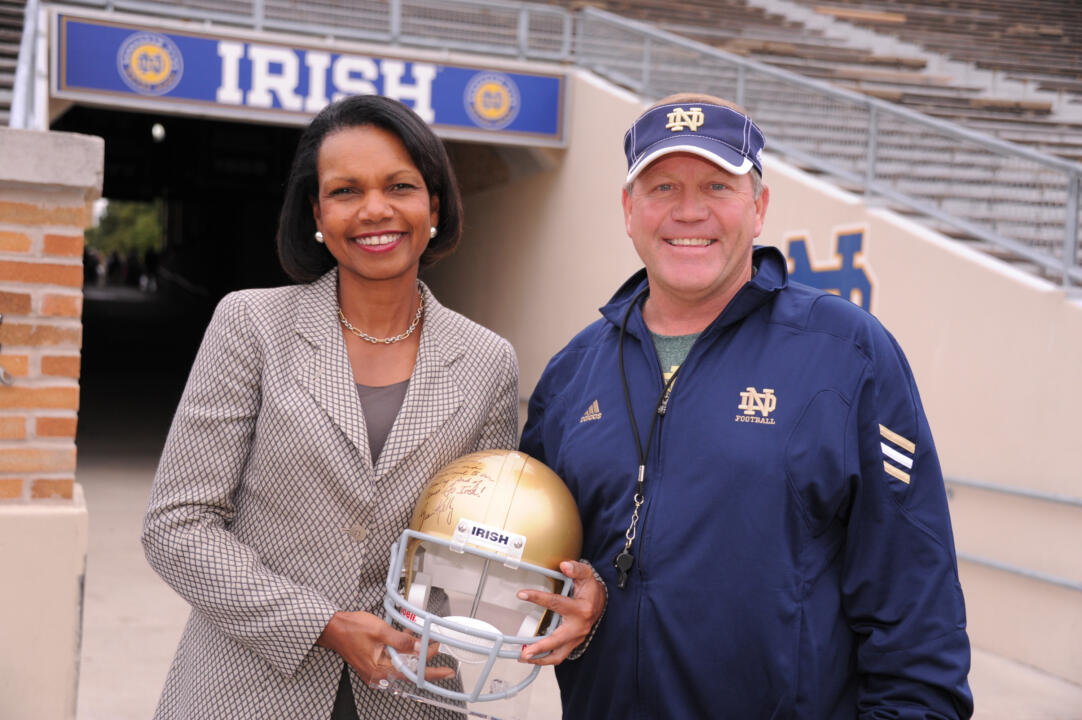 Dr. Rice at Notre Dame Stadium