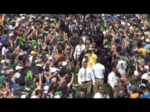 Notre Dame Football - Walk to Stadium - USF