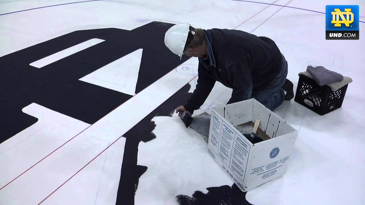 Laying, Painting, & Skating the ice in the Compton Family Ice Arena.