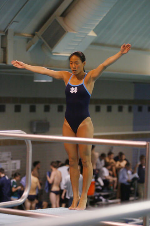 Junior Jenny Chiang won the one and three-meter dives on Friday against Auburn.