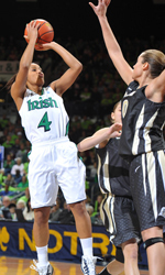 Junior guard Skylar Diggins has been named to the Wooden Award and Wade Trophy watch lists in the past six weeks, in addition to earning first-team preseason All-America honors from <i>The Sporting News</i> and <i>Athlon Sports</i>.