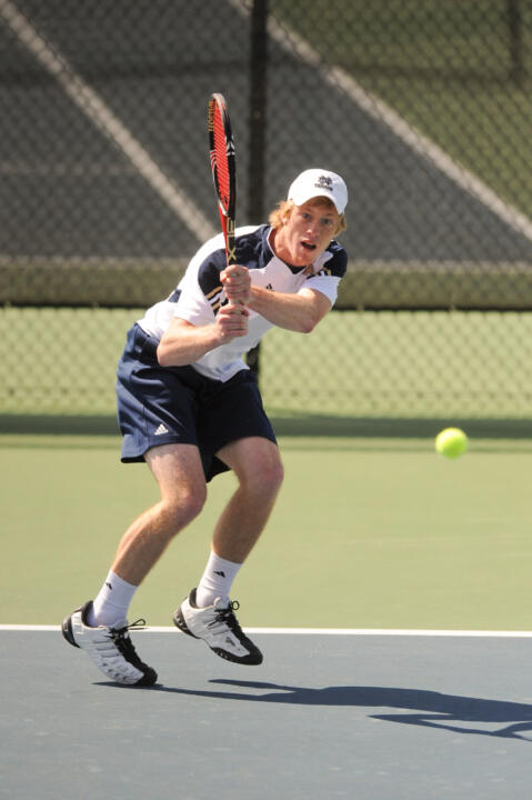 Senior Casey Watt is in the round of eight in both singles and doubles at the USTA/ITA Regional Championships.