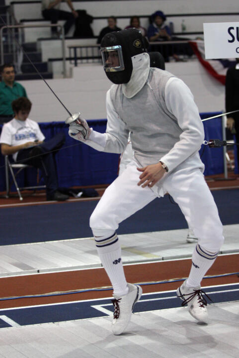 Gerek Meinhardt (pictured) along with Ewa Nelip were chosen as Notre Dame Fencers of the Month for October.
