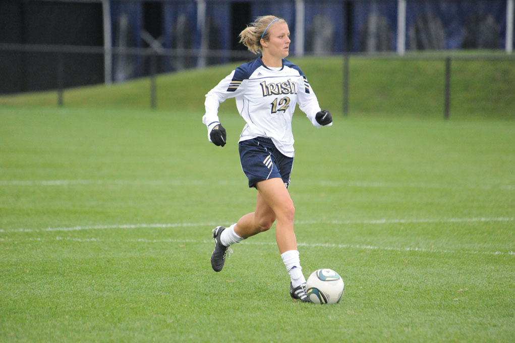 Senior tri-captain Jessica Schuveiller has been one of the key reasons for Notre Dame's late-season resurgence, collecting five goals and two assists in the past nine matches.