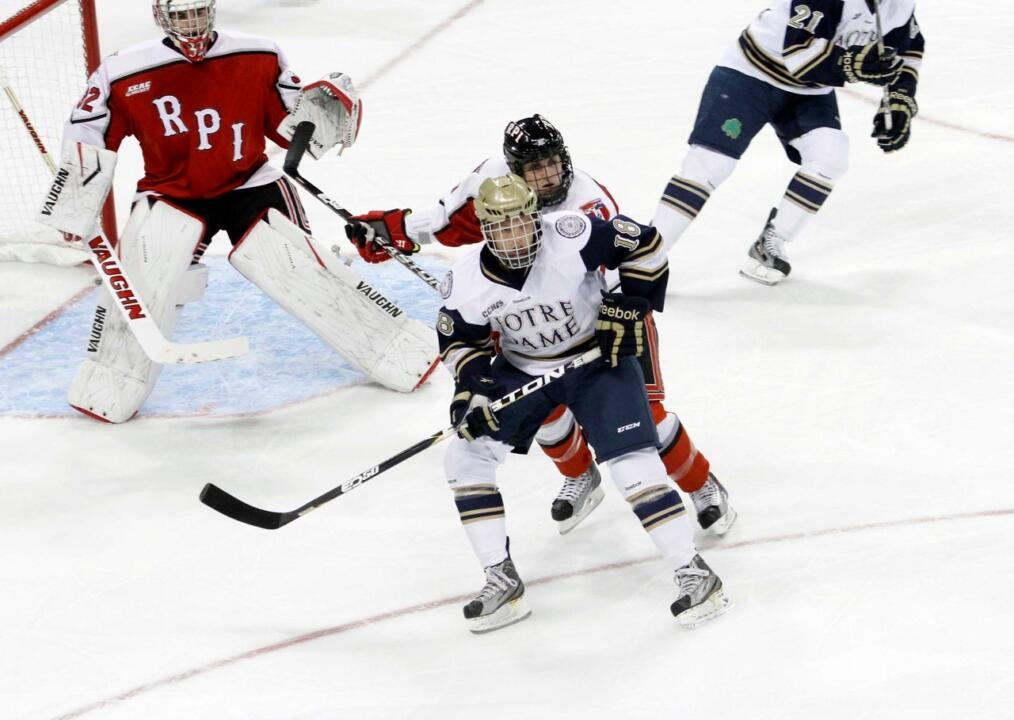T.J. Tynan scored once and assisted on two others in Notre Dame's 3-2 overtime win versus Alaska.